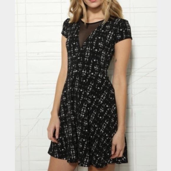 Urban Outfitters Dresses & Skirts - UO Kimchi Blue Deep V Mesh Skater Dress